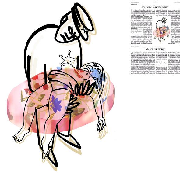 Jordi Barba, il·lustració publicada a La Vanguardia, secció d'Opinió 14-02-2015, per l'article de Carles Casajuana