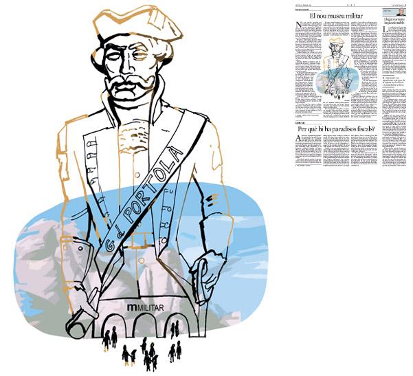 Jordi Barba, il·lustració publicada a La Vanguardia, secció d'Opinió 19-02-2015, per l'article de Francesc Granell