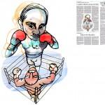 Jordi Barba, il·lustració publicada a La Vanguardia, secció d'Opinió 22-02-2015, per l'article de Iuri Gorodnitxenko, Gérard Roland i Edward W. Walker