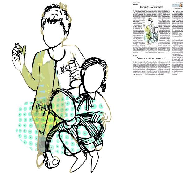 Jordi Barba, il·lustració publicada a La Vanguardia, secció d'Opinió 3-03-2015, per l'article de Alfredo Pastor