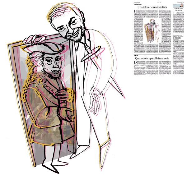 Jordi Barba, il·lustració publicada a La Vanguardia, secció d'Opinió 5-03-2015, per l'article de Francesc-Marc Álvaro