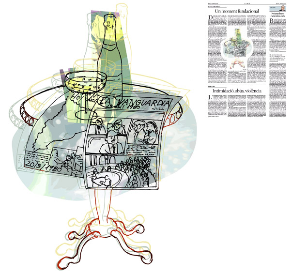 Jordi Barba, il·lustració publicada a La Vanguardia, secció d'Opinió 19-03-2015, per l'article de Francesc-Marc Álvaro