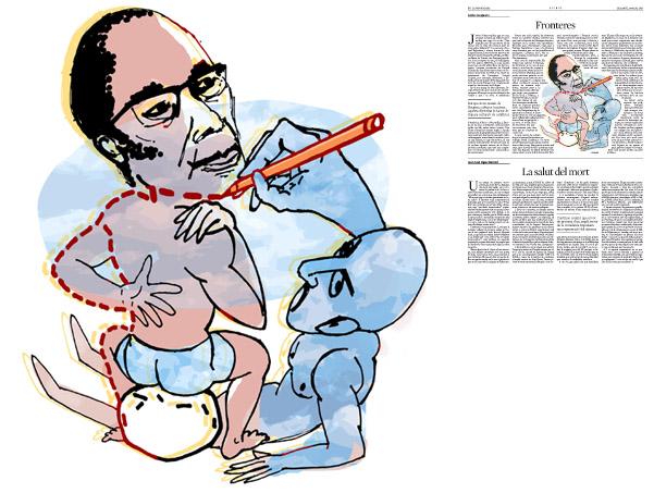Jordi Barba, il·lustració publicada a La Vanguardia, secció d'Opinió 28-03-2015, per l'article de Carles Casajuana