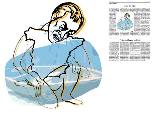 Jordi Barba, il·lustració publicada a La Vanguardia, secció d'Opinió 18-04-2015, per l'article de JuanJosé López Burniol