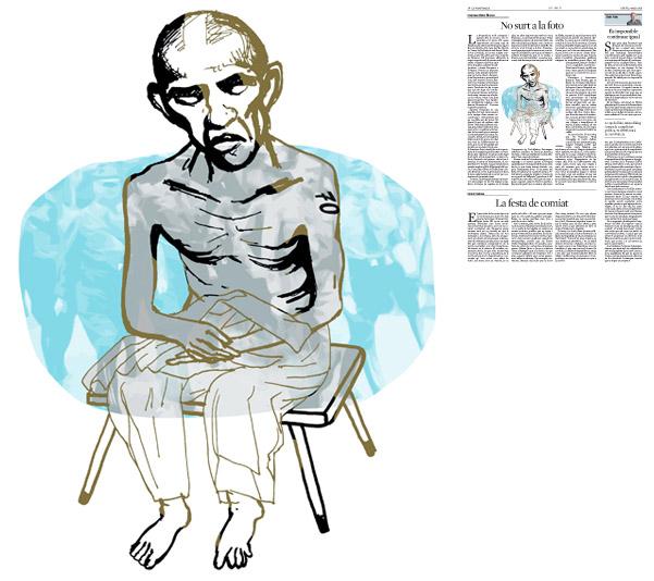 Jordi Barba, il·lustració publicada a La Vanguardia, secció d'Opinió 7-05-2015, per l'article de Francesc-Marc Álvaro