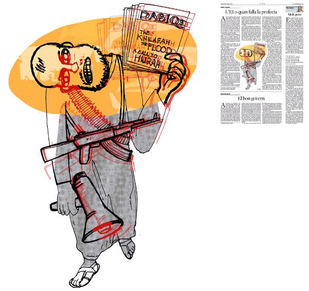Jordi Barba, il·lustració publicada a La Vanguardia, secció d'Opinió 16-05-2015, per l'article de Walter Laqueur