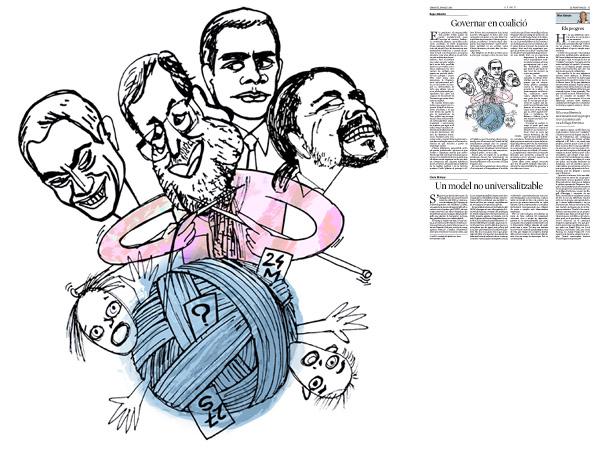 Jordi Barba, il·lustració publicada a La Vanguardia, secció d'Opinió 19-05-2015, per l'article de Kepa Aulestia