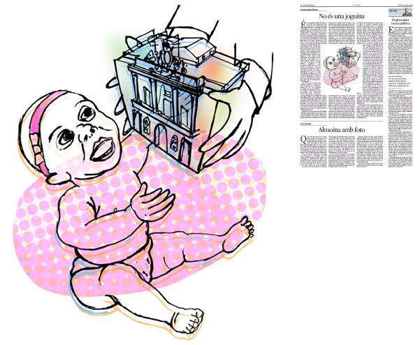 Jordi Barba, il·lustració publicada a La Vanguardia, secció d'Opinió 21-05-2015, per l'article de Francesc-Marc Álvaro