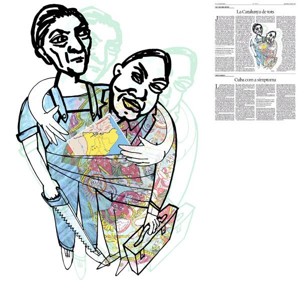 Jordi Barba, il·lustració publicada a La Vanguardia, secció d'Opinió 30-05-2015, per l'article de Juan-José López Burniol
