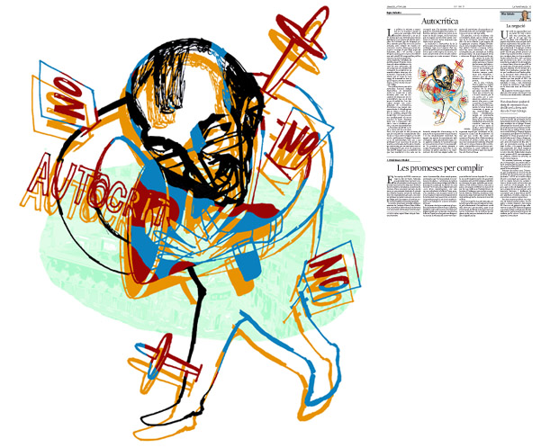 Jordi Barba, il·lustració publicada a La Vanguardia, secció d'Opinió 2-06-2015, per l'article de Kepa Aulestia