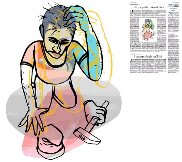 Jordi Barba, il·lustració publicada a La Vanguardia, secció d'Opinió 4-06-2015, per l'article de Francesc-Marc Álvaro