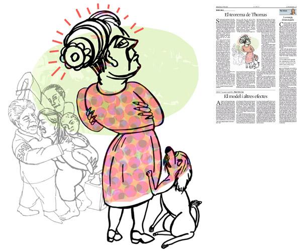 Jordi Barba, il·lustració publicada a La Vanguardia, secció d'Opinió 17-06-2015, per l'article de Antón Costas