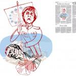Jordi Barba, il·lustració publicada a La Vanguardia, secció d'Opinió 3-07-2015, per l'article de Walter Laqueur