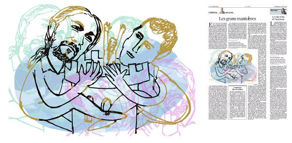 Jordi Barba, il·lustració publicada a La Vanguardia, secció d'Opinió 5-07-2015, per l'article de Julià de Jòdar