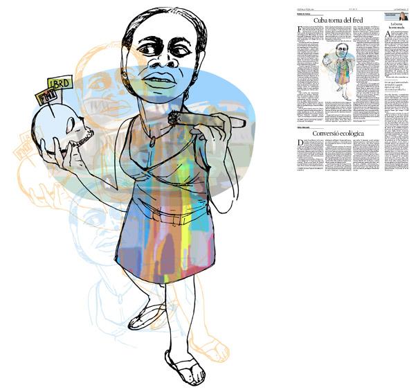 Jordi Barba, il·lustració publicada a La Vanguardia, secció d'Opinió 13-07-2015, per l'article de Héctor R. Torres