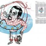 Jordi Barba, il·lustració publicada a La Vanguardia, secció d'Opinió 16-07-2015, per l'article de Xavier Vives