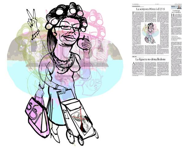 Jordi Barba, il·lustració publicada a La Vanguardia, secció d'Opinió 23-07-2015, per l'article de Francesc-Marc Álvaro