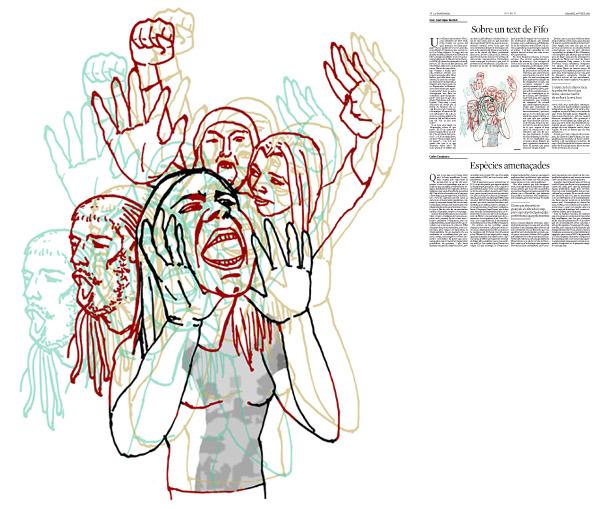 Jordi Barba, il·lustració publicada a La Vanguardia, secció d'Opinió 25-07-2015, per l'article de Juan-José López Burniol