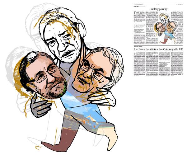 Jordi Barba, il·lustració publicada a La Vanguardia, secció d'Opinió 25-09-2015, per l'article de Luis del Olmo