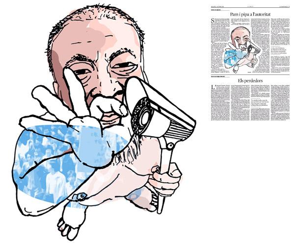 Jordi Barba, il·lustració publicada a La Vanguardia, secció d'Opinió 3-10-2015, per l'article de Carles Casajuana
