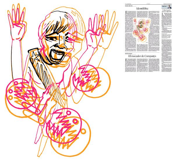 Jordi Barba, il·lustració publicada a La Vanguardia, secció d'Opinió 14-10-2015, per l'article de Salvador Cardús i Ros