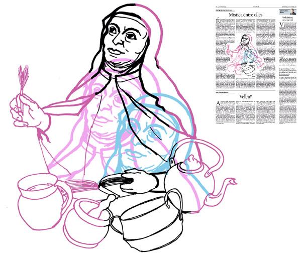 Jordi Barba, il·lustració publicada a La Vanguardia, secció d'Opinió 16-10-2015, per l'article de José Ignacio González Faus