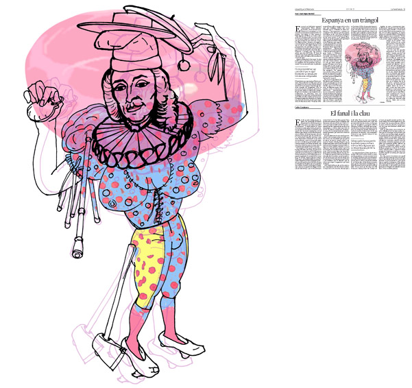 Jordi Barba, il·lustració publicada a La Vanguardia, secció d'Opinió 24-10-2015, per l'article de JuanJosé López Burniol