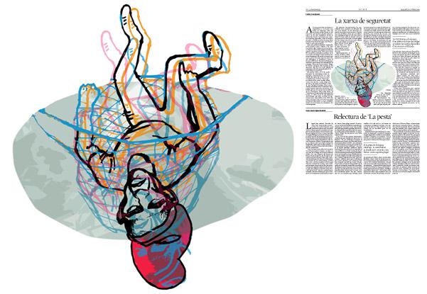 Jordi Barba, il·lustració publicada a La Vanguardia, secció d'Opinió 31-10-2015, per l'article de Carles Casajuana