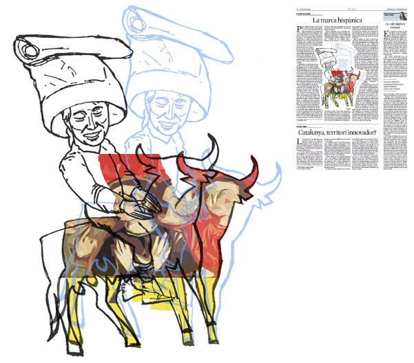 Jordi Barba, il·lustració publicada a La Vanguardia, secció d'Opinió 8-11-2015, per l'article de Daniel Fernández