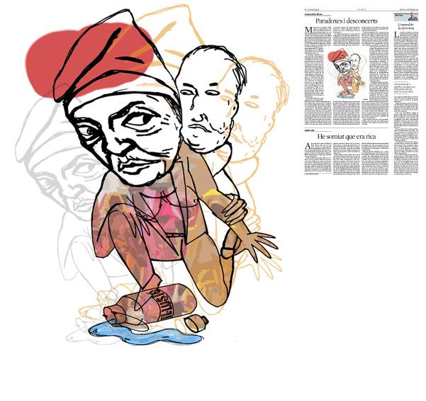 Jordi Barba, il·lustració publicada a La Vanguardia, secció d'Opinió 12-11-2015, per l'article de Francesc-Marc Álvaro