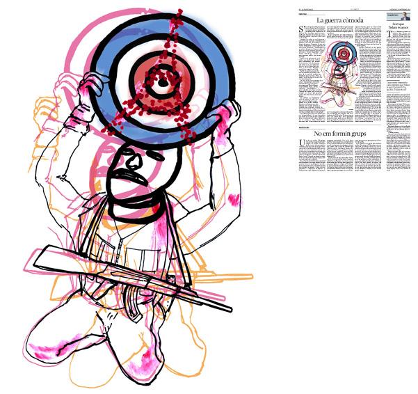 Jordi Barba, il·lustració publicada a La Vanguardia, secció d'Opinió 18-11-2015, per l'article de Lluís Foix