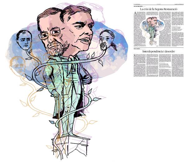 Jordi Barba, il·lustració publicada a La Vanguardia, secció d'Opinió 21-11-2015, per l'article de Juan-José López Burniol