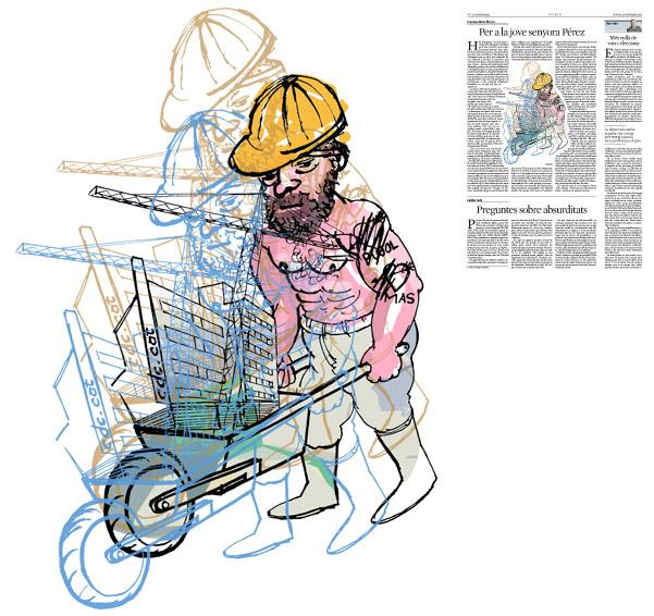 Jordi Barba, il·lustració publicada a La Vanguardia, secció d'Opinió 26-11-2015, per l'article de Francesc-Marc Álvaro