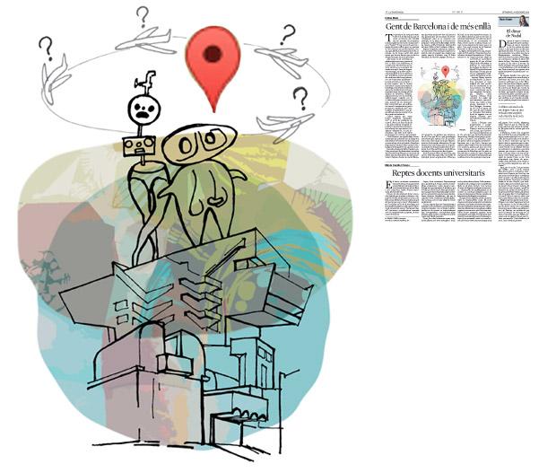 Jordi Barba, il·lustració publicada a La Vanguardia, secció d'Opinió 27-12-2015, per l'article de Llàtzer Moix