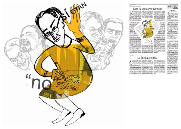 Jordi Barba, il·lustració publicada a La Vanguardia, secció d'Opinió 31-12-2015, per l'article de Francesc-Marc Álvaro