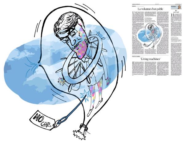 Jordi Barba, il·lustració publicada a La Vanguardia, secció d'Opinió 06-01-2016, per l'article de Lluís Foix