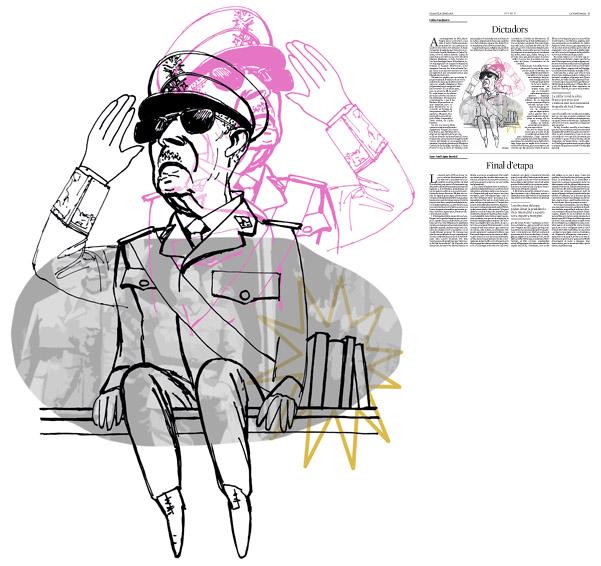 Jordi Barba, il·lustració publicada a La Vanguardia, secció d'Opinió 09-01-2016, per l'article de Carles Casajuana