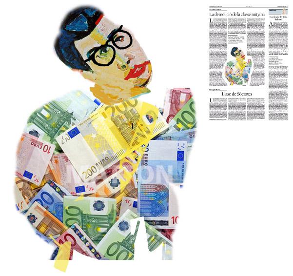 Jordi Barba, il·lustració publicada a La Vanguardia, secció d'Opinió 10-01-2016, per l'article de Josep Miró i Ardèvol