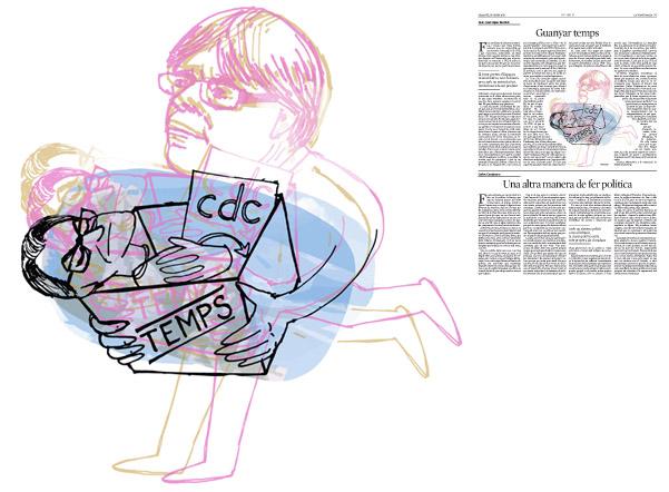 Jordi Barba, il·lustració publicada a La Vanguardia, secció d'Opinió 16-01-2016, per l'article de Juan-José López Burniol