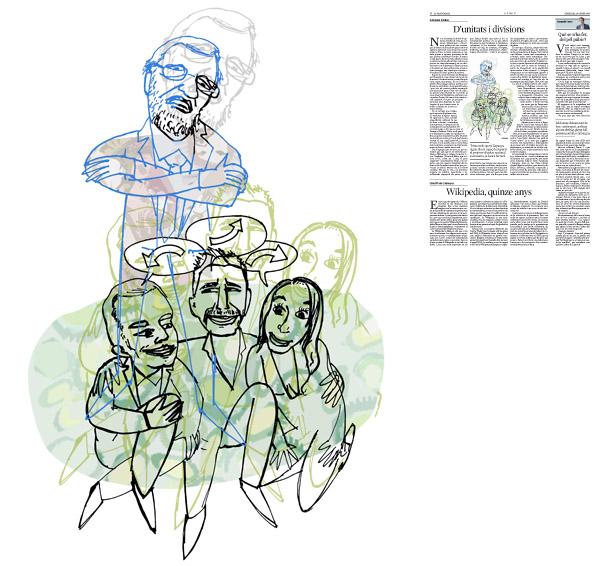 Jordi Barba, il·lustració publicada a La Vanguardia, secció d'Opinió 20-01-2016, per l'article de Salvador Cardús