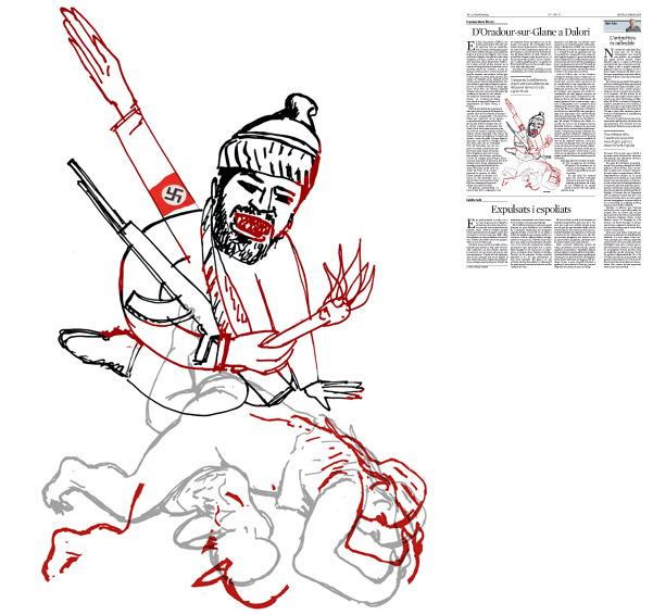 Jordi Barba, il·lustració publicada a La Vanguardia, secció d'Opinió 4-02-2016, per l'article de Francesc-Marc Álvaro