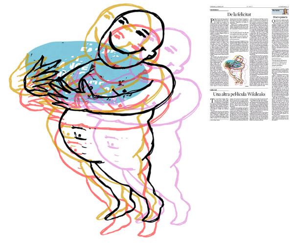 Jordi Barba, il·lustració publicada a La Vanguardia, secció d'Opinió 12-02-2016, per l'article de Luis Racionero