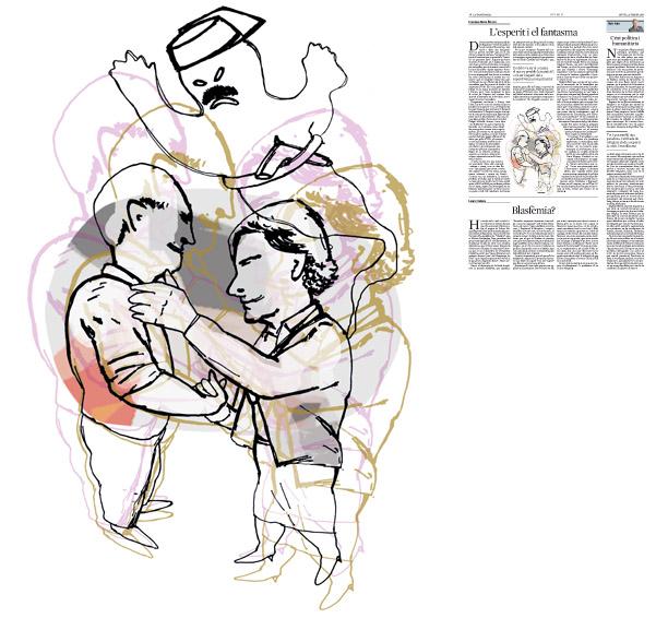Jordi Barba, il·lustració publicada a La Vanguardia, secció d'Opinió 25-02-2016, per l'article de Francesc-Marc Álvaro