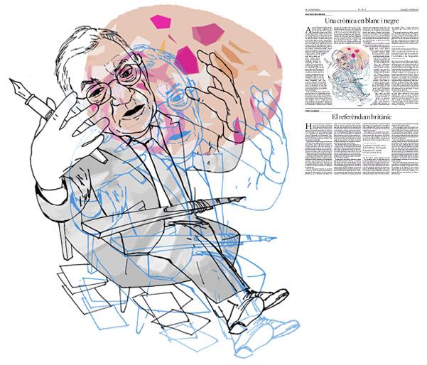 Jordi Barba, il·lustració publicada a La Vanguardia, secció d'Opinió 27-02-2016, per l'article de Juan-José López Burniol