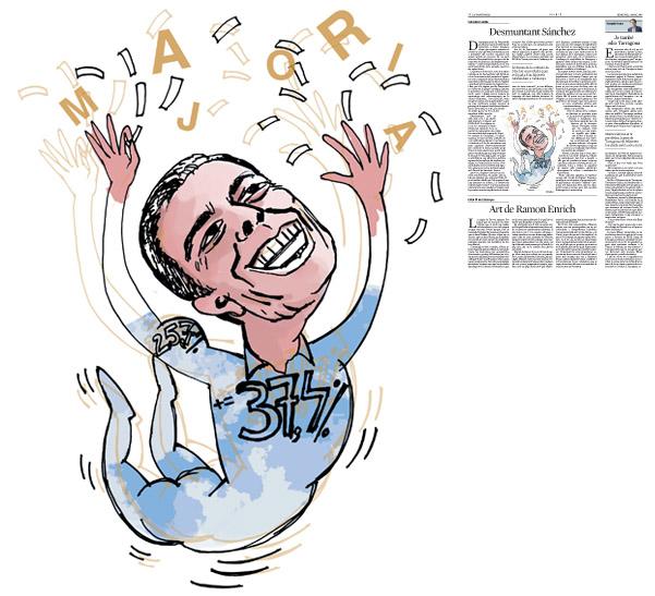 Jordi Barba, il·lustració publicada a La Vanguardia, secció d'Opinió 2-03-2016, per l'article de Salvador Cardús