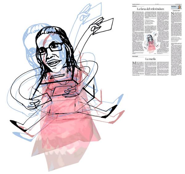 Jordi Barba, il·lustració publicada a La Vanguardia, secció d'Opinió 12-03-2016, per l'article de Ian Buruma