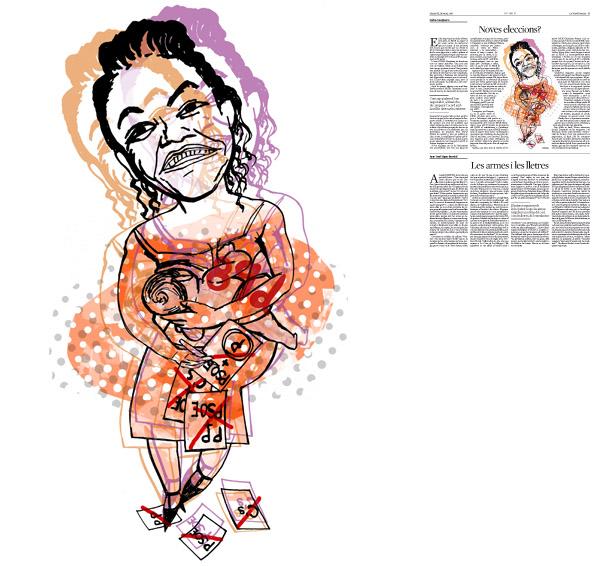 Jordi Barba, il·lustració publicada a La Vanguardia, secció d'Opinió 19-03-2016, per l'article de Carles Casajuana