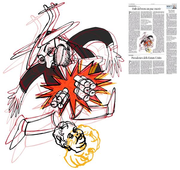 Jordi Barba, il·lustració publicada a La Vanguardia, secció d'Opinió 24-03-2016, per l'article de Francesc-Marc Álvaro