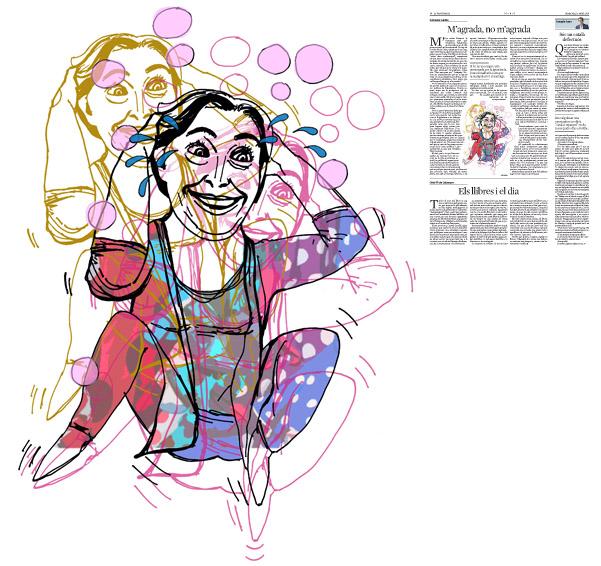 Jordi Barba, il·lustració publicada a La Vanguardia, secció d'Opinió 13-04-2016, per l'article de Salvador Cardús