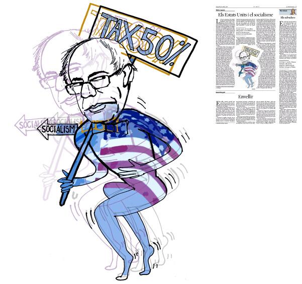 Jordi Barba, il·lustració publicada a La Vanguardia, secció d'Opinió 16-04-2016, per l'article de Walter Laqueur